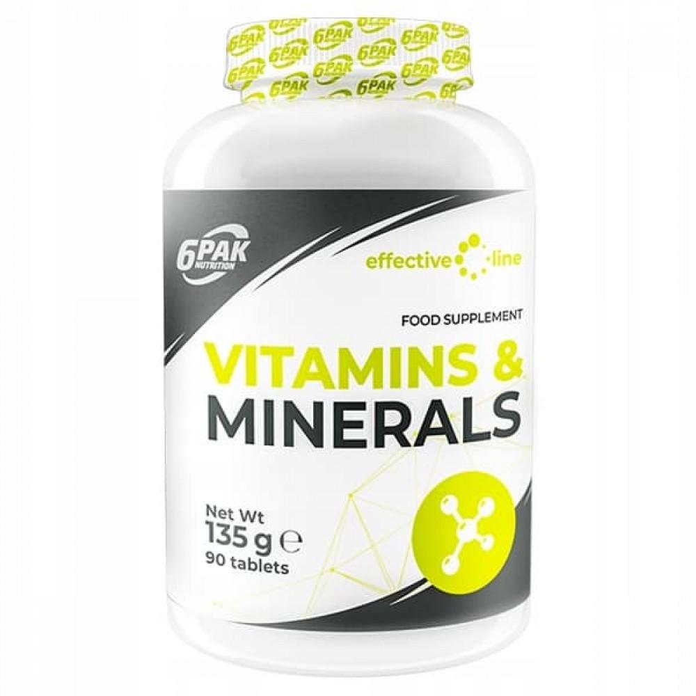 Vitamins and Minerals 90 tabliet - 6PAK