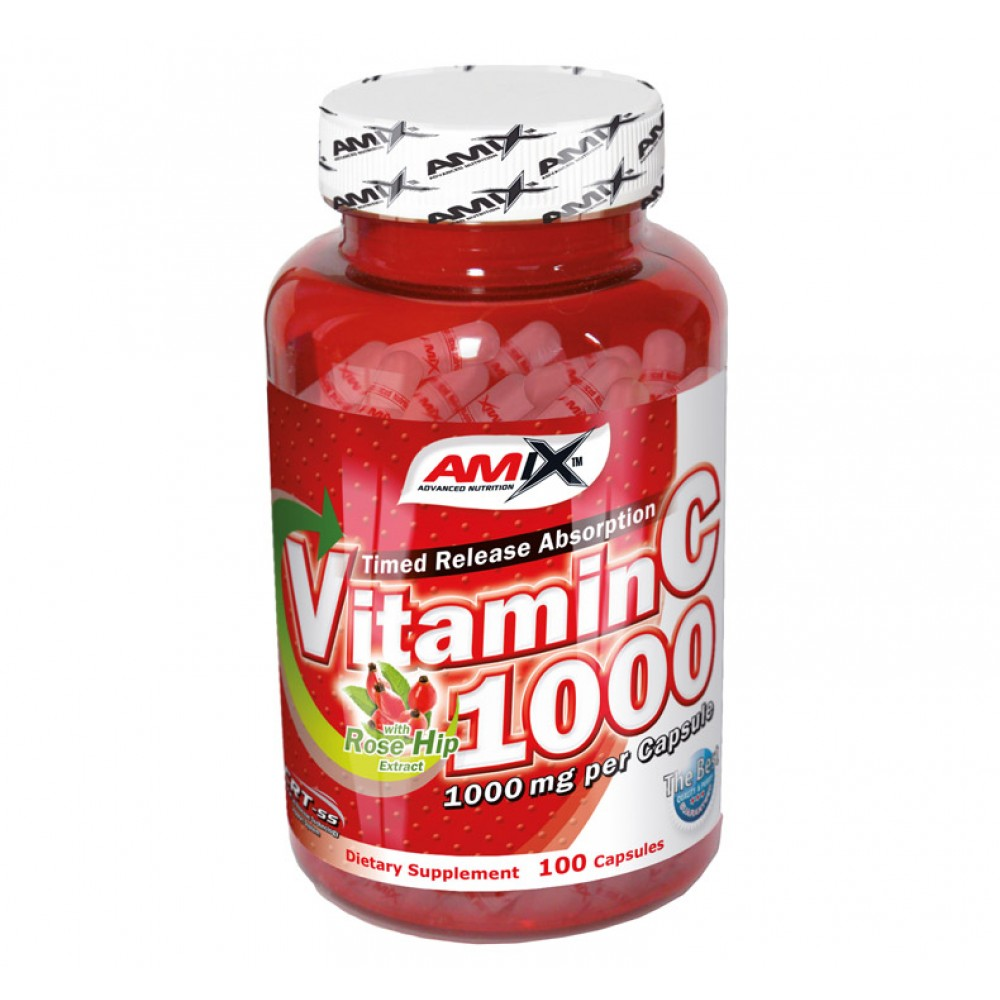 Vitamin C 1000mg + Rose Hips 100 kapsúl - Amix
