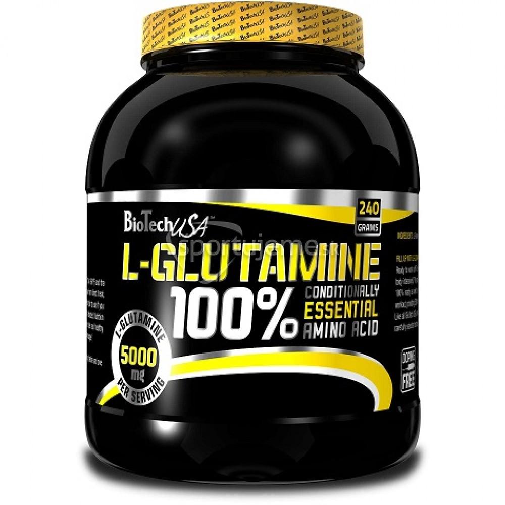 100% L-Glutamine 240 g - Biotech USA