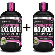 L-Carnitine Liquid 100000 2x 500 ml - Biotech USA