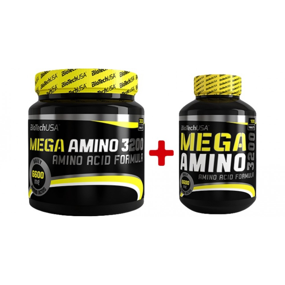 Mega Amino 3200 300 + 100 tabliet - Biotech USA