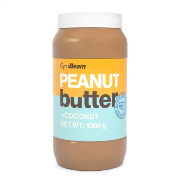 100% Arašidové maslo s kokosom 1000 g - GymBeam