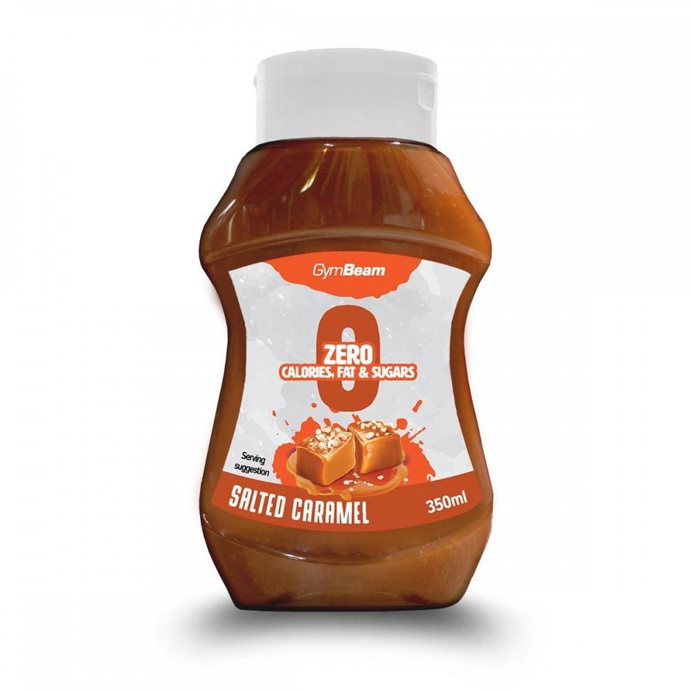 Bezkalorický sirup Salted Caramel 350 ml - GymBeam