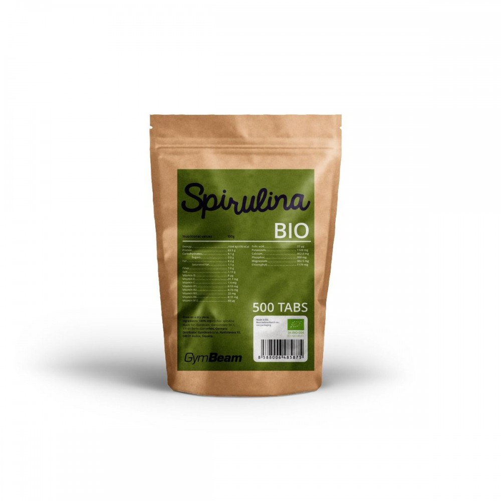 Bio Spirulina 500 mg 500 tabliet - GymBeam