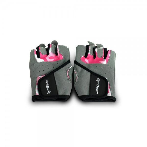 Fitness Dámske rukavice Camo Pink - GymBeam