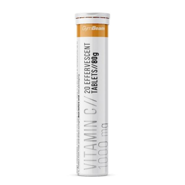 Vitamín C 1000 mg 20 šumivých tabliet - GymBeam