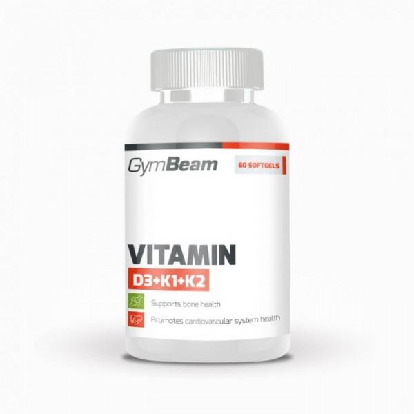 Vitamín D3+K1+K2 120 kapsúl - GymBeam