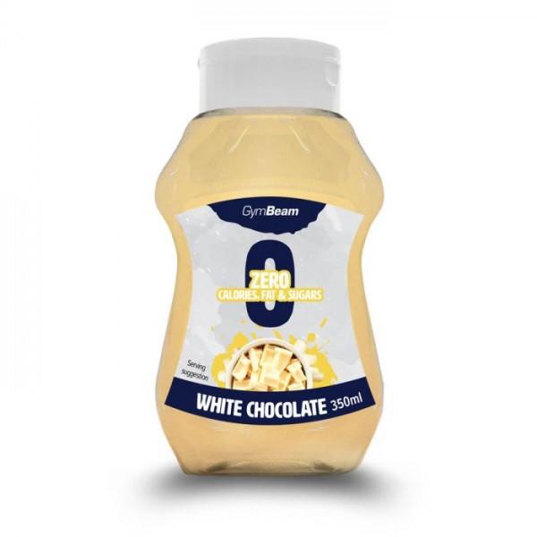 Bezkalorický sirup White Chocolate 350 ml - GymBeam