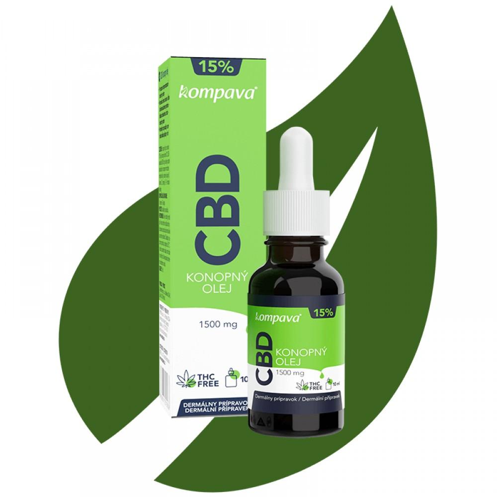 CBD Konopný olej 15% 10 ml - Kompava