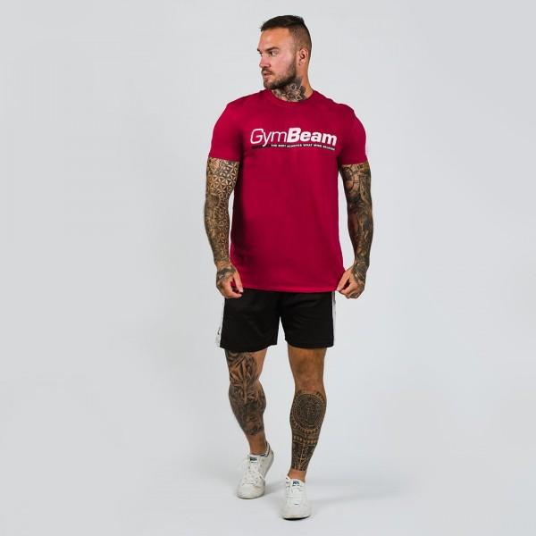 Pánske tričko Body and Mind Cardinal Red - GymBeam