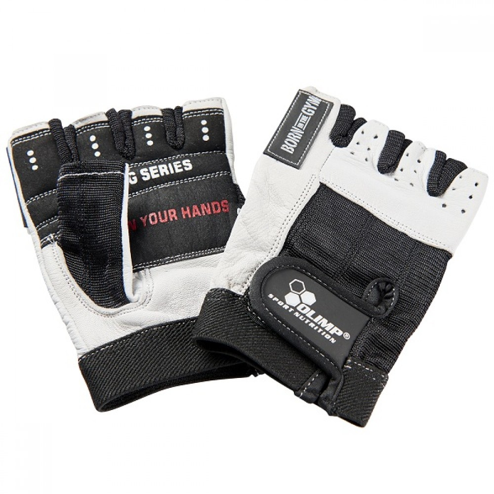 Fitness rukavice Hardcore One - biele - Olimp sport nutrition