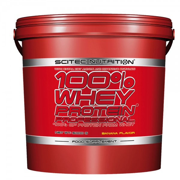 100% Whey Protein Professional 5000 g - Scitec Nutrition