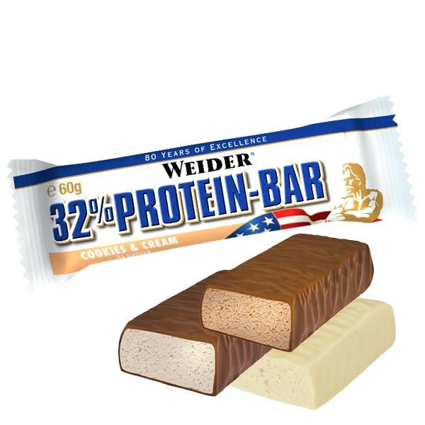 32% Protein Bar 60g - Weider
