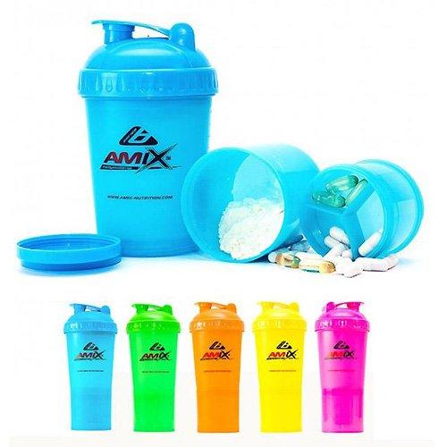 Amix Shaker Monster Bottle 600 ml trojdielny šejkre trojdielne, viacdielne