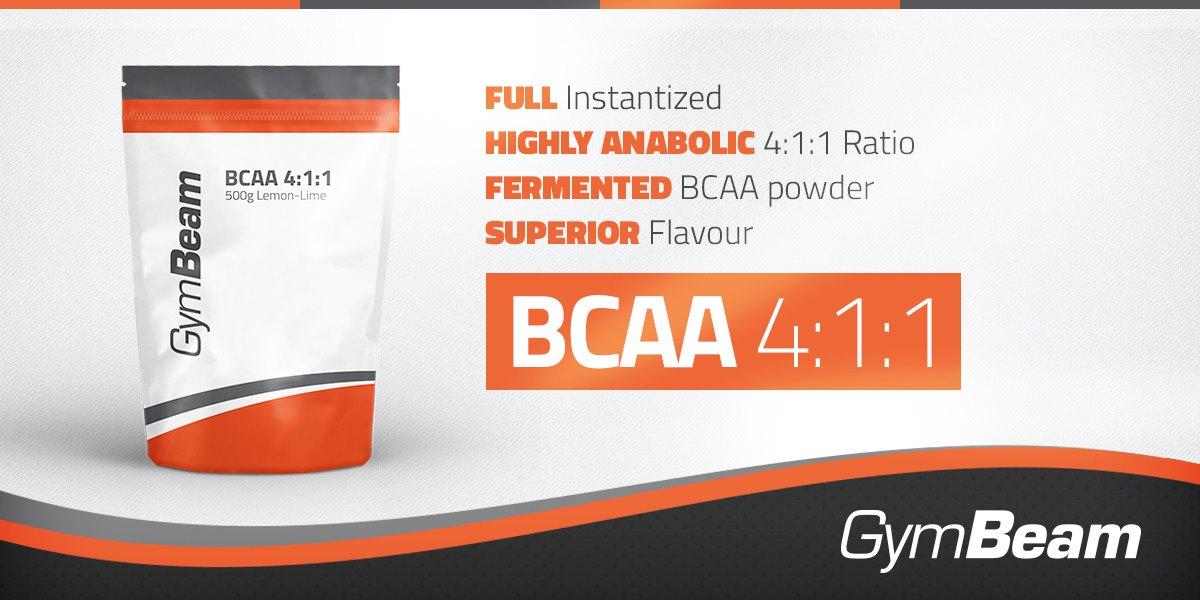 GymBeam Bcaa 4:1:1 Instant 500 g - Fit Life Športová výživa