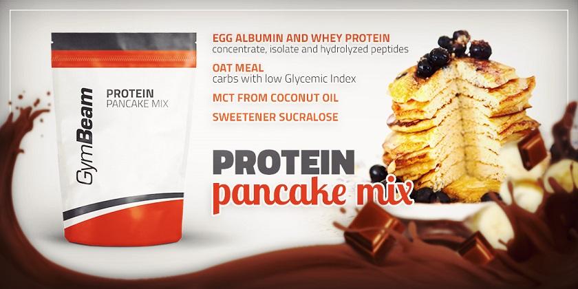 GymBeam Protein Pancake Mix 500g proteínové palacinky na fit life fitlife