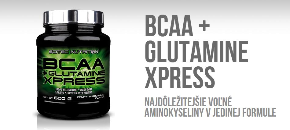 Scitec Nutrition BCAA + Glutamine Xpress 600 g - Fit Life Športová výživa a doplnky výživy